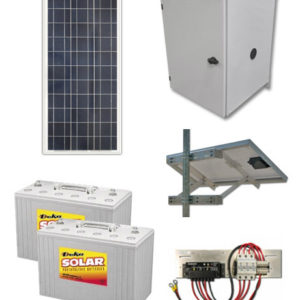120 Watt Solar Power Kit System For Remote Power Ameresco Solar